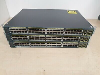 3x CISCO CATALYST 2960 PoE-48 - WS-C2960-48PST-L - 48 Ports - IOS 15 - JOB LOT