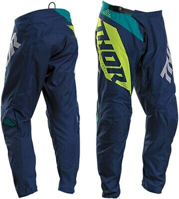 2020 Thor Sector Blade Navy Acid Offroad MX Motocross Race Pants Adult