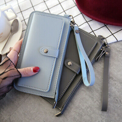 Women Clutch Leather Wallet Long Card Holder Phone Bag Case Purse Lady Handbag