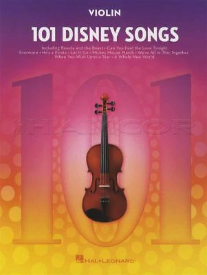 101 Disney Songs for Violin Sheet Music Book Frozen Lion King Toy Story Moana