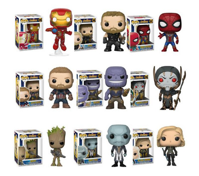 Funko Pop Avengers Marvel Endgame Infinity Spider Man Tony Stark Iron Man Thor