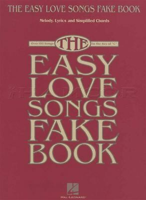 The Easy Love Songs Fake Book C Edition Sheet Music Book Over 100 Songs