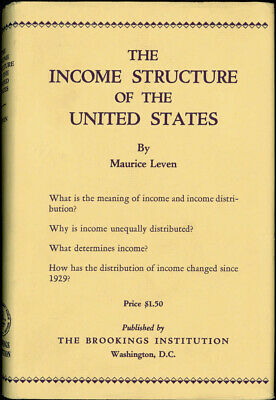 Maurice LEVEN / The Income Structure of the United States First Edition 1938