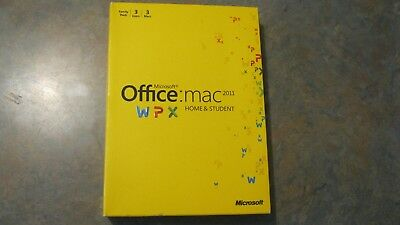 Genuine Microsoft Office Mac 2011  Home and Student Family Pack 3 Users