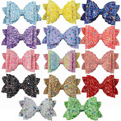 Shiny Sequins Hair Clips Glitter Hairpins Bowknot Kids Girl Hair Bow Accessories