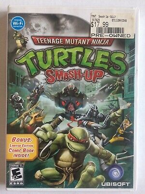 Teenage Mutant Ninja Turtles Smash-Up (Nintendo Wii, 2009) Complete with Comic