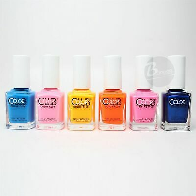 Color Club Nail Polish Poptastic Pastel Neon Collection N14-N19 2015 Summer Hot