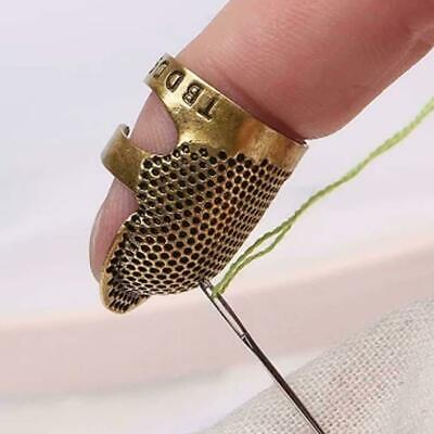 Retro Brass Sewing Thimbles Ring Finger Shield-Protector s H1C0 Hand Finger C3T4