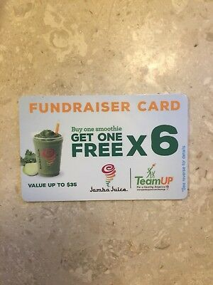 Jamba Juice BOGO card gift fundraiser $35 value