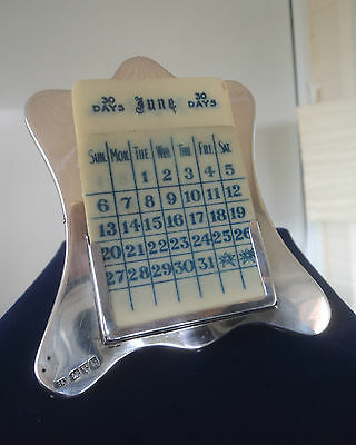 Vintage Silver Art Deco Perpetual Calender Chester 1922 complete months & dates