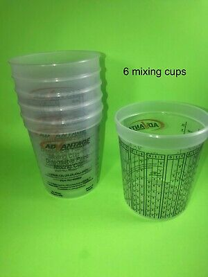 Paint Mixing Cups Quart With Graduations PPG Compare To EZMix 70032 - QTY = 6