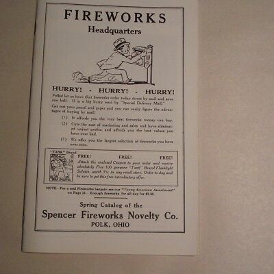 SPENCER FIREWORKS CATALOG - Firecrackers, Salutes, Fireworks, Rockets, Torpedoes