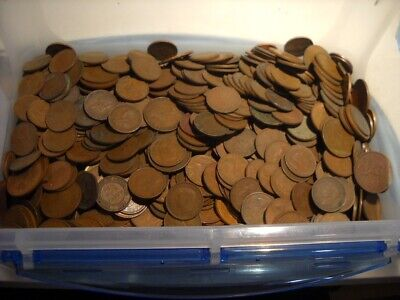 Bulk Lot Australian Half Pennies 20 Coins 20 Different Dates KGV - QEII