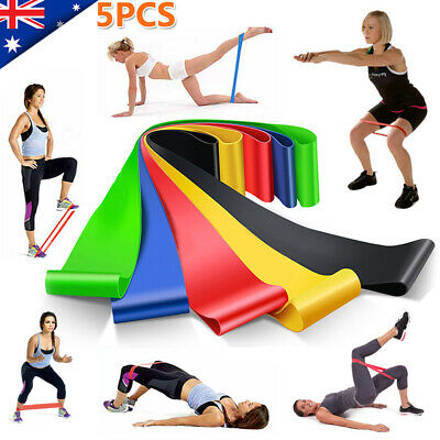 6PCS Resistance Stretch Elastic Loop Band Strap Gym Yoga Fitness Exercise Home G