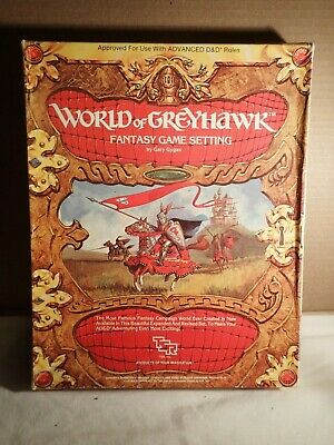 World of Greyhawk (TSR 1015) Dungeons & Dragons Campaign Setting boxed Gygax VGC