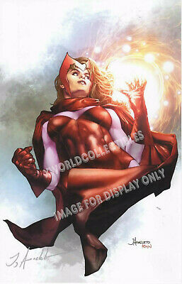 "SCARLET WITCH SDCC 2019 ART PRINT - SIGNED JAY ANACLETO 11""x17"""