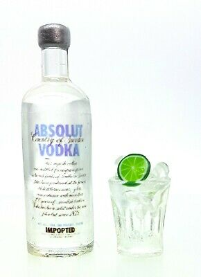 Add to Coles Little Shop Mini Collectables-1Vodka btl /glass Lime & Ice 1:12th