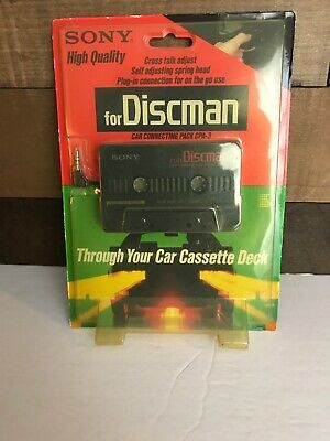 Vintage Sony Discman Car Connecting Pack Coa-3 Nos Rare Nib