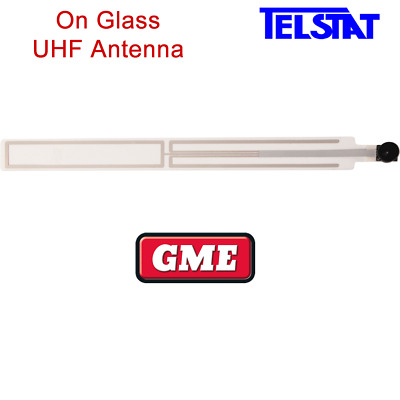 GME AE5003 On Glass 2.5dBi UHF CB Transparent Antenna for Cars, 4WD, Tractors.