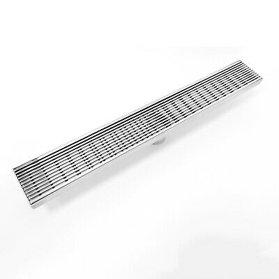 30 Inch Mirror Polished Wedge Wire Grate Stainless Steel Shower Floor Drain