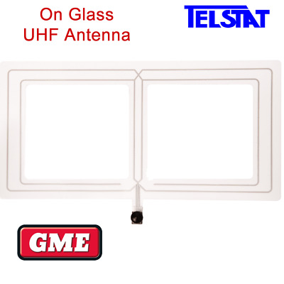 GME AE5004 On Glass 4.5dBi UHF CB Transparent Antenna for Cars, 4WD, Tractors.