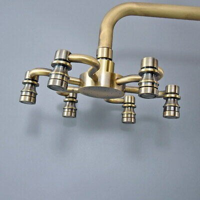 Antique Bronze Brass Rainfall Shower Head Bathroom Shower Head