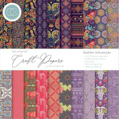 Craft Consortium Double-Sided Paper Pad 6x6 40/Pkg Eastern Influences