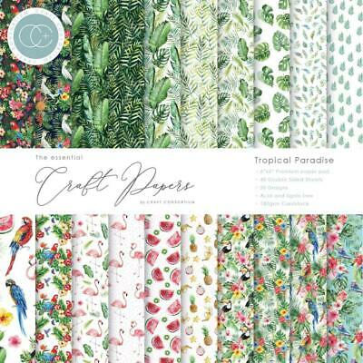 Craft Consortium Double-Sided Paper Pad 6x6 40/Pkg Tropical Paradise