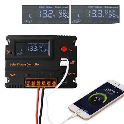 MPPT 30AMP Solar Charge Controller For 12V 24V DC Battery Regulator GA