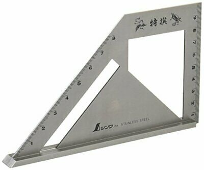 New SHINWA 62081 Miter Square Metric Stainless Steel Standard Model Carpenter