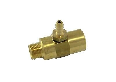 "Pressure Washer P.A Chemical Injector Brass Low Pressure 3/8"" BSP"
