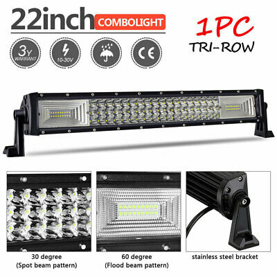 22inch LED Light Bar Spot Flood 4WD Wide Angle Offroad Driving 4x4 Kings Domin8r