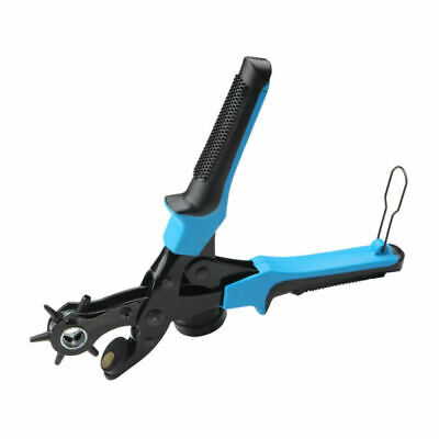 Heavy Duty Strap Leather Hole Punch Hand Plier Belt Punch Revolving Tool OUX