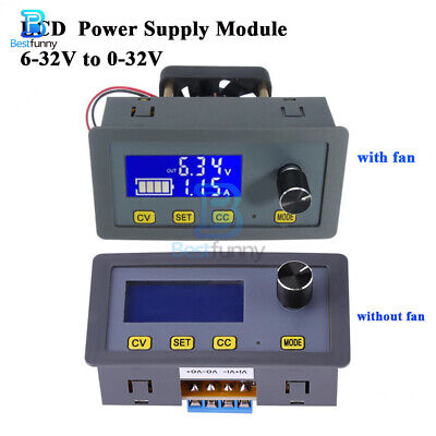 5A DC Buck Step Down Adjustable LCD 6-32V to 0-32V Power Supply Module with Fan