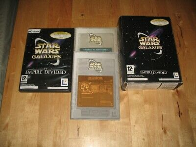 Juego Pc Lucasarts Star Wars Galaxies An Empire Divided Caja Cartón Y Manuales