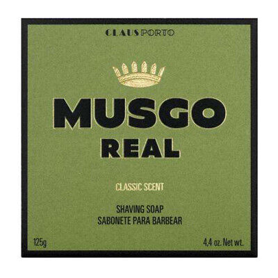 Musgo Real Classic Scent Mens Traditional Moisturising Shaving Soap Puck 125g