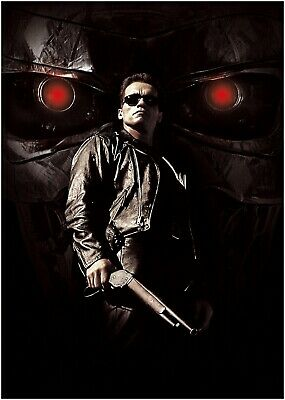 Terminator 2 Classic Movie Large Poster or Canvas Art Print Maxi A1 A2 A3 A4