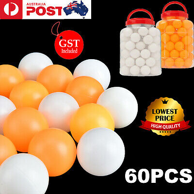 60 Pcs Table Tennis Balls Ping Pong 40MM Olympic Orange White Indoor Sports Toy