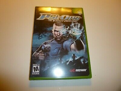 PSI-OPS: THE MINDGATE CONSPIRACY (Microsoft Xbox, 2004)Brand New- Factory Sealed