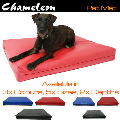 Dog Mat mattress Bed cushion Chew Resistant Waterproof 600gsm leather look