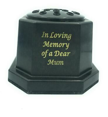 Mum Memorial Grave Flower Pot Vase Graveside Remembrance Black Insert