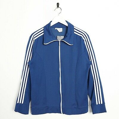 Vintage 80s ADIDAS Small Logo Tracksuit Top Jacket Blue | Small S