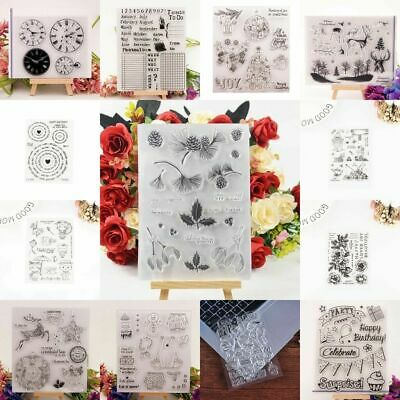 Silicone Clear Stamp Transparent Rubber Stamps DIY Crafts Scrapbooking Gift F5J3