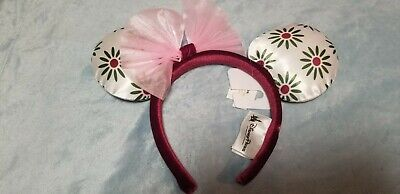 Disney Parks Minnie Mouse Ears Tightrope Girl Headband with Bow NEW