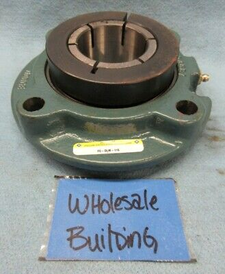 "Dodge Fc-Dlm-115 Piloted Flange Mount Ball Bearing 128861, 1-15/16"" Bore, 6.38"""