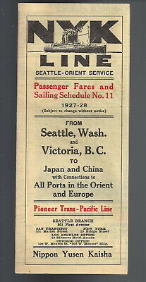 1948 WEEKLY SCHEDULE of Sailings Letter - French Line