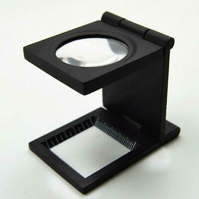 10X Folding Magnifier 27mm Optical Glass Loupe Handsfree Stamp Y6Z8 Jeweler Q0S0