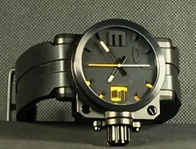 OAKLEY FUSE BOX White Face Watch Swiss Quartz GMT Rubber Band ... on