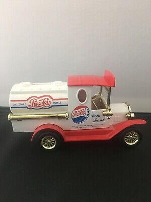 Pepsi Cola Coin Bank - Golden Wheel - Collectable Model With Key