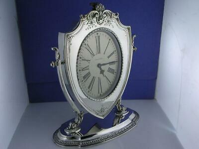 Sterling REED & BARTON Clock Waltham ART DECO w/ scroll shell repousse